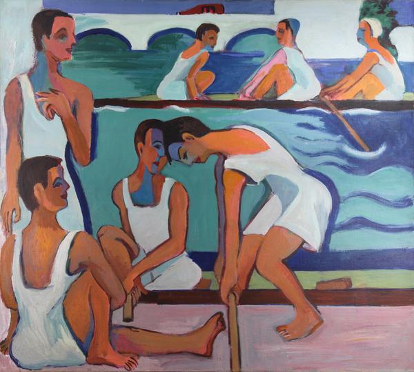 """Ernst Ludwig Kirchner, """"Ruderer"""", 1928/29, Galerie Henze & Ketterer"""